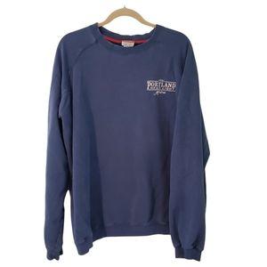 Vintage Champion Blue Portland Maine Embroidered Fleece Crewneck Sweatshirt XL